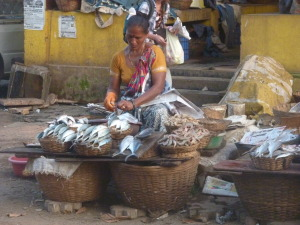 Fish market woman
